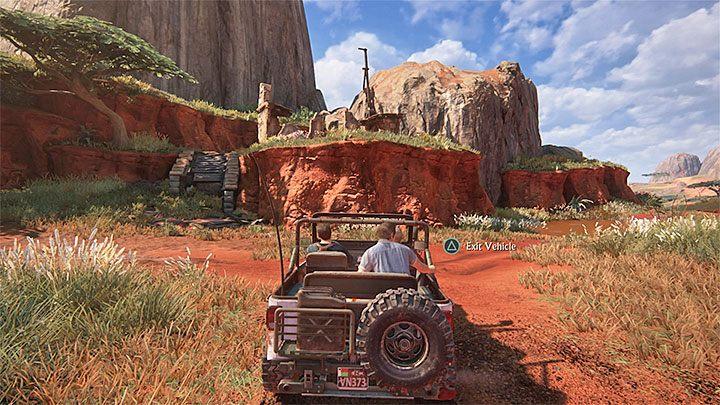 Przejazd możesz rozpocząć od zniszczenia pobliskiego pierwszego kopca (uderz w niego autem) - 10 - Dwanaście wież - Opis przejścia - Uncharted 4: A Thiefs End - poradnik do gry