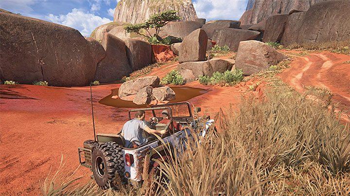 Po dotarciu do nowej lokacji zacznij kierować się w lewo - 10 - Dwanaście wież - Opis przejścia - Uncharted 4: A Thiefs End - poradnik do gry
