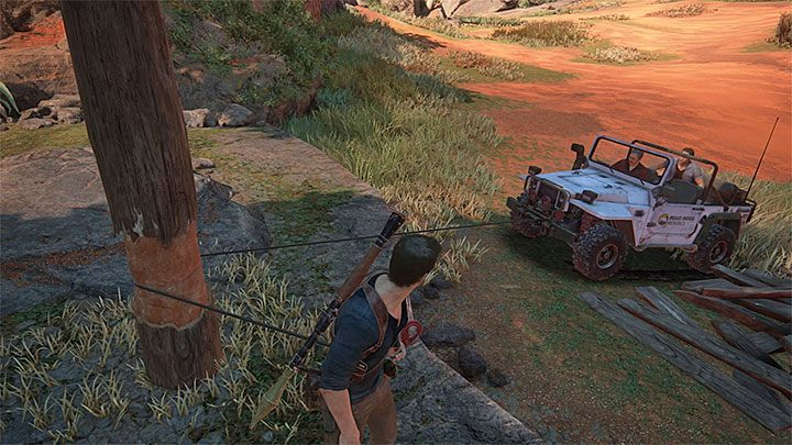 Rozpocznij przejazd jeepem w stronę wspomnianego wcześniej drewnianego mostu - 10 - Dwanaście wież - Opis przejścia - Uncharted 4: A Thiefs End - poradnik do gry