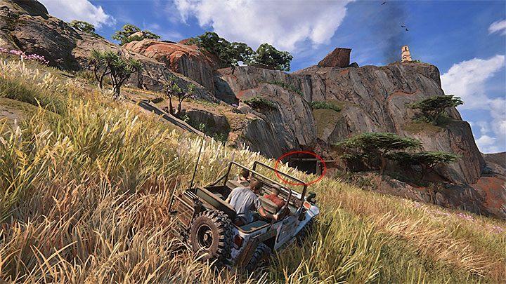 Zjedź ostrożnie ze wzgórza i wyrusz teraz w stronę ruin z punktu 5, czyli tych zlokalizowanych nieco dalej na prawo od miejsca startu - 10 - Dwanaście wież - Opis przejścia - Uncharted 4: A Thiefs End - poradnik do gry