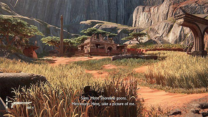 Do zbadania pozostała już tylko jedna opcjonalna lokacja i są to ruiny z punktu 6 (pokazane są na powyższym obrazku), czyli te zlokalizowane najdalej na lewo od miejsca startu (za pojedynczym domem na wzgórzu, który już wcześniej badałeś) - 10 - Dwanaście wież - Opis przejścia - Uncharted 4: A Thiefs End - poradnik do gry