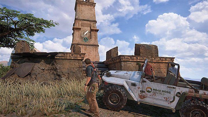 Dotrzesz wkrótce w pobliże małej wieży, którą już wcześniej mogłeś dostrzec z dołu - 10 - Dwanaście wież - Opis przejścia - Uncharted 4: A Thiefs End - poradnik do gry