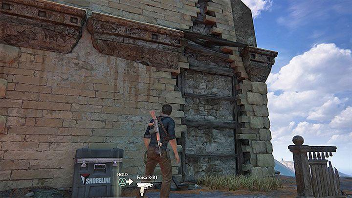 Zaparkuj samochód w dowolnym miejscu i udaj się w stronę prawej wieży - 10 - Dwanaście wież - Opis przejścia - Uncharted 4: A Thiefs End - poradnik do gry