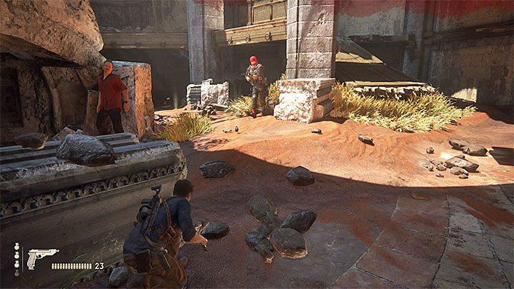Na sam koniec tego rozdziału musisz wziąć udział w bitwie i ma ona niestety dwa poważne utrudnienia - 10 - Dwanaście wież - Opis przejścia - Uncharted 4: A Thiefs End - poradnik do gry