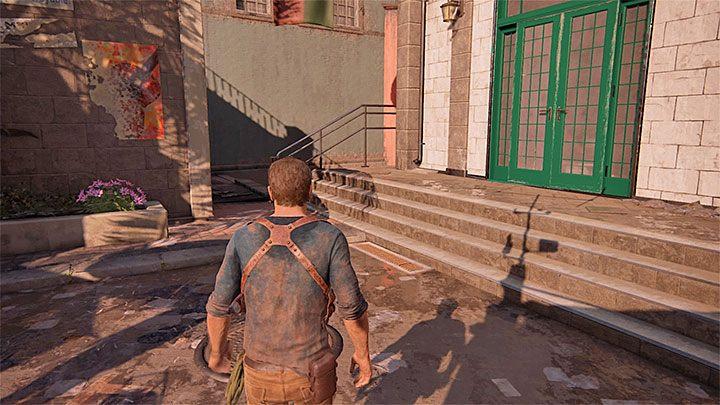 Po rozpoczęciu rozdziału zejdź po schodach na targowisko - 11 - Najciemniej pod latarnią - Opis przejścia - Uncharted 4: A Thiefs End - poradnik do gry