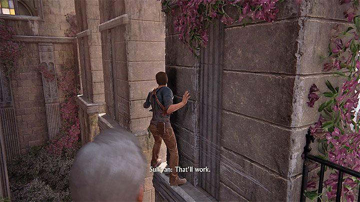 Celem podróży jest ogromna wieża zegarowa i niestety główne wejście do niej jest zablokowane - 11 - Najciemniej pod latarnią - Opis przejścia - Uncharted 4: A Thiefs End - poradnik do gry