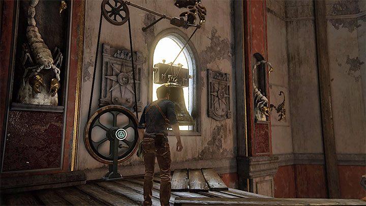 Zwróć się teraz w stronę ogromnych ruchomych zębatek i rozpocznij wspinaczkę po nich - 11 - Najciemniej pod latarnią - Opis przejścia - Uncharted 4: A Thiefs End - poradnik do gry