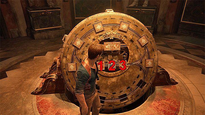 Musisz teraz powrócić do Koła Założycieli i powtórzyć kroki z dziennika - 11 - Najciemniej pod latarnią - Opis przejścia - Uncharted 4: A Thiefs End - poradnik do gry