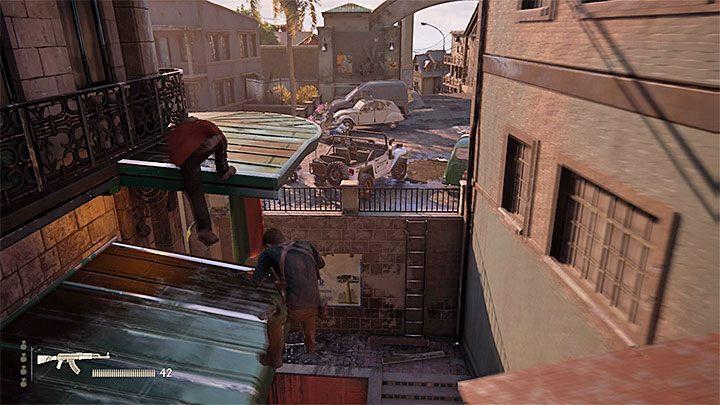 Po wyeliminowaniu wszystkich najemników skręć w lewo - 11 - Najciemniej pod latarnią - Opis przejścia - Uncharted 4: A Thiefs End - poradnik do gry
