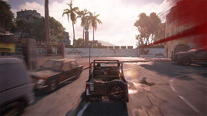 Sprawy skomplikują się po dotarciu na niewielki rynek, albowiem Nate i Sully ustalą, że trasa przejazdu jest zablokowana przez pojazdy - 11 - Najciemniej pod latarnią - Opis przejścia - Uncharted 4: A Thiefs End - poradnik do gry
