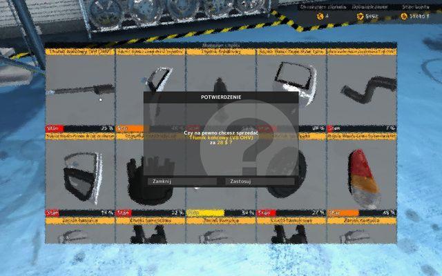 Każdą z posiadanych w magazynie części możemy sprzedać na rynku wtórnym - ceny wahają się od kilku do kilkuset dolarów, a wycena rzecz jasna zależy od stanu technicznego danego podzespołu - Sprzedaż części - Podstawy rozgrywki - Car Mechanic Simulator 2015 - poradnik do gry