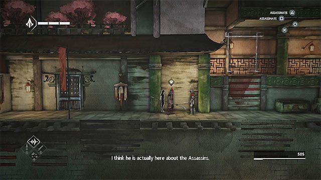 Kieruj się w lewo i po wyjściu z budynku złap się nowych interaktywnych krawędzi - Sekwencja 4 - Łowca niewolników (The Slaver) - Assassins Creed Chronicles: China - poradnik do gry