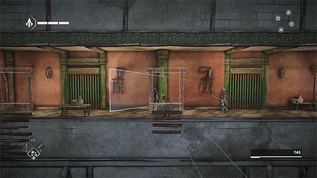 Po obejrzeniu krótkiej cut-scenki dotrzyj do wyższej półki - Sekwencja 4 - Łowca niewolników (The Slaver) - Assassins Creed Chronicles: China - poradnik do gry