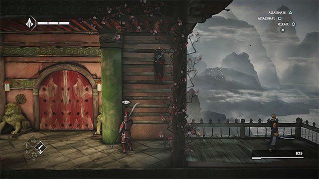 Użyj najpierw środkowej drabinki i następnie tej na lewej ścianie - Sekwencja 4 - Łowca niewolników (The Slaver) - Assassins Creed Chronicles: China - poradnik do gry