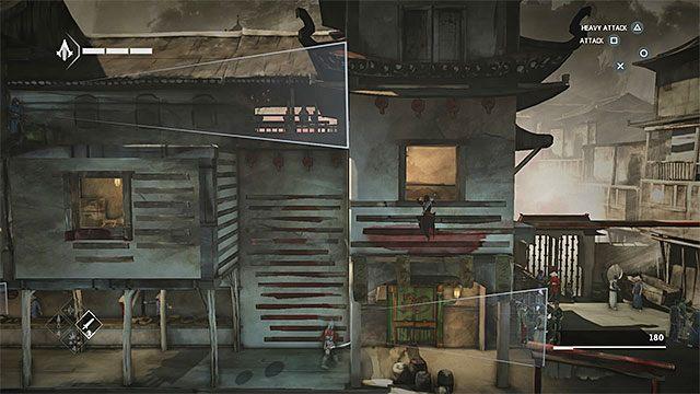 Wyjdź przez prawą okiennicę i złap się nowych krawędzi - Sekwencja 6 - Poszukiwania (The Search) - Assassins Creed Chronicles: China - poradnik do gry