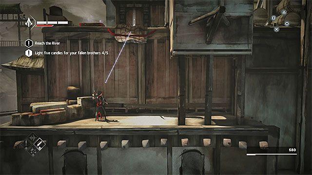 Po zapalaniu świecy powróć do mijanej niedawno drabinki i skorzystaj z niej - Sekwencja 6 - Poszukiwania (The Search) - Assassins Creed Chronicles: China - poradnik do gry