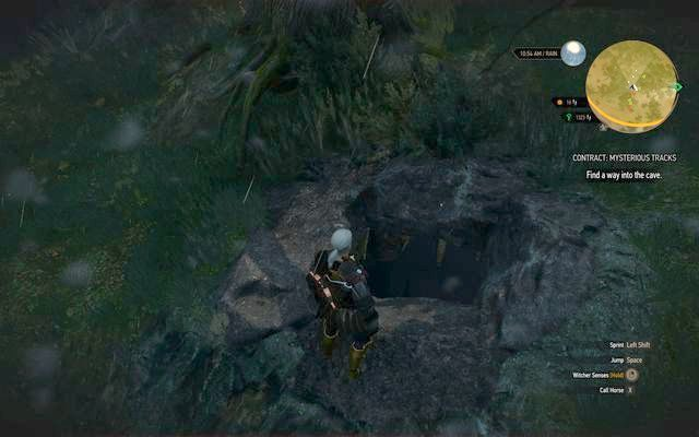Wejście do jaskini potwora - Zlecenia wiedźmińskie | Krzywuchowe Moczary - Wiedźmin 3: Dziki Gon - poradnik do gry