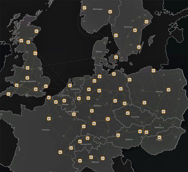 Wraz z dodatkiem i nowymi miastami pojawiły się nowe punkty zakupu ciągników siodłowych - Dealerzy ciężarówek (wszyscy) - Elementy gry - Euro Truck Simulator 2: Skandynawia - poradnik do gry