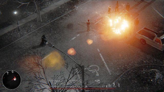 Po zebraniu przedmiotów kontynuuj wędrówkę na wschód - wkrótce powinno aktywować się zadanie Wyrżnij ludzi na pogrzebie (miejsce symbolizowane jest przez stosowną ikonę na radarze) - Misja 1 - Dom - Opis przejścia - Hatred - poradnik do gry