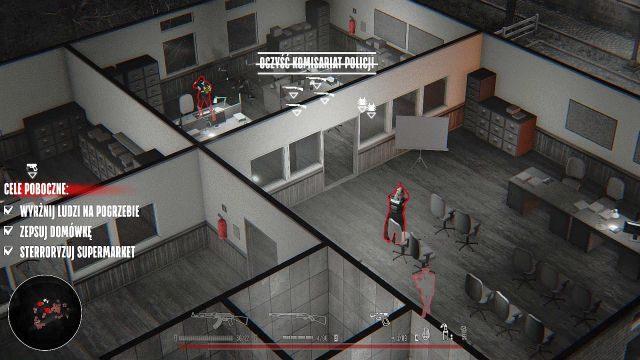 Dostać się do wspomnianej zbrojowni można na dwa sposoby - wbiegając przez wejście komisariatu, co jednak narazi cię na otrzymanie sporych obrażeń, jak i otwarcie alternatywnego wejścia, wysadzając ścianę za pomocą granatu - Misja 1 - Dom - Opis przejścia - Hatred - poradnik do gry