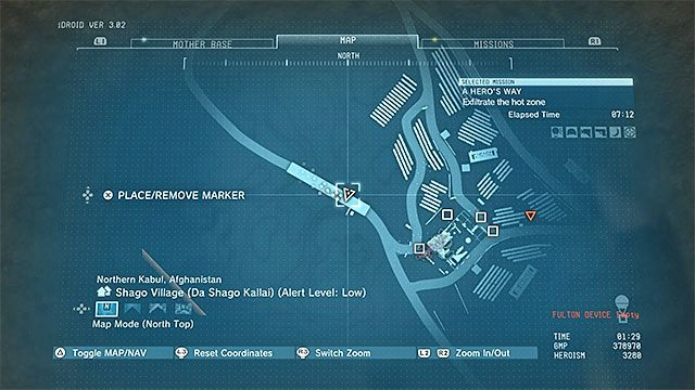 Zlokalizowanie przetworzonych materiałów najlepiej jest zostawić sobie na koniec misji - Pozostałe opcjonalne cele w misji A Heros Way - Misja 3 - A Heros Way - Metal Gear Solid V: The Phantom Pain - przewodnik i opis przejścia