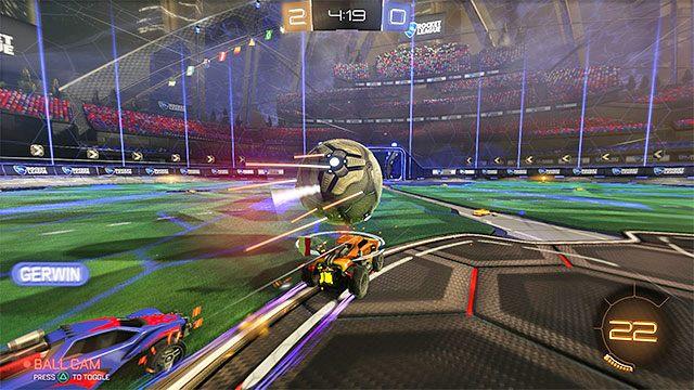 W Rocket League piłkę przemieszcza się uderzając w nią samochodem - Podstawowe zagrania - Typy zagrań - Rocket League - poradnik do gry