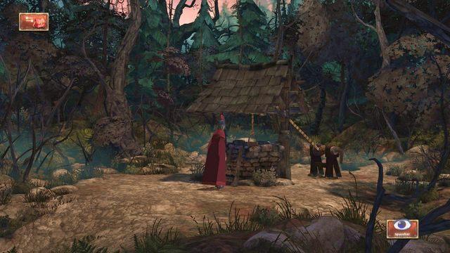 Po dojściu do wspomnianej studni możemy w ramach interakcji do niej zajrzeć - Podziemia - Magiczne lustro - Kings Quest - poradnik do gry