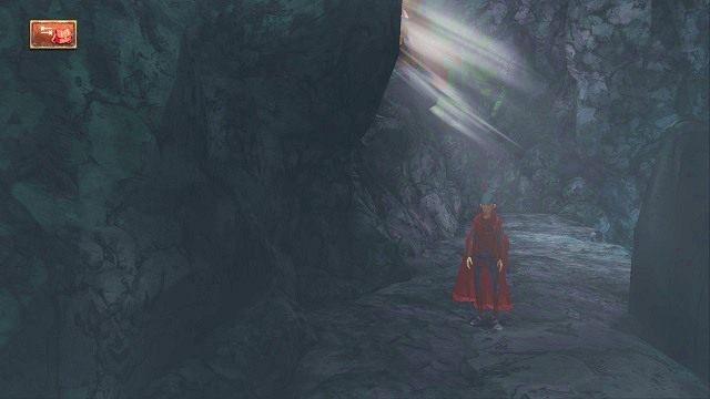 Po drugiej stronie znajdziemy się na półkach skalnych - Podziemia - Magiczne lustro - Kings Quest - poradnik do gry