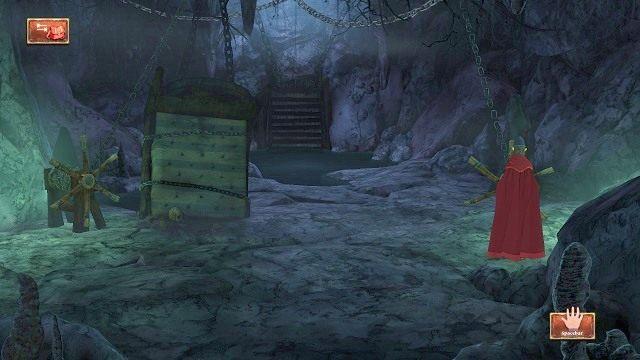 W następnej lokacji natkniemy się na dwa kołowrotki - Podziemia - Magiczne lustro - Kings Quest - poradnik do gry