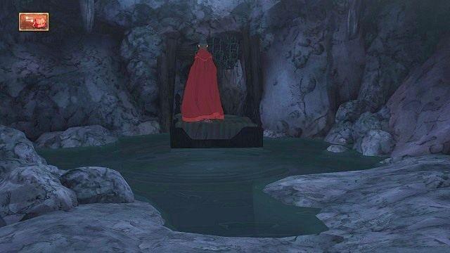 Teraz po prostu podchodzimy do przejścia i wstępujemy do następnego pomieszczenia w pieczarze - Podziemia - Magiczne lustro - Kings Quest - poradnik do gry