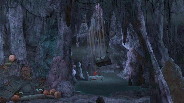 Następnie natrafimy na łóżko - Podziemia - Magiczne lustro - Kings Quest - poradnik do gry