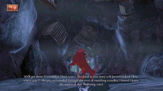 Idąc dalej, zauważymy mnóstwo łóżek zawieszonych na suficie - Podziemia - Magiczne lustro - Kings Quest - poradnik do gry