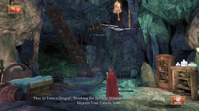 Po chwili marszu dotrzemy do pokoju wypełnionego starymi meblami - Podziemia - Magiczne lustro - Kings Quest - poradnik do gry