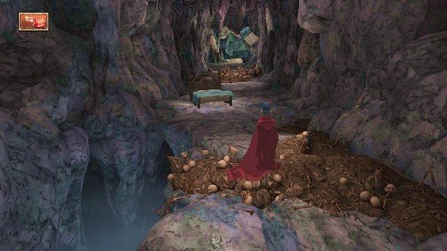 Następne wyzwanie będzie dotyczyć bezpiecznego przekradnięcia się do legowiska smoka - Legowisko smoka - Magiczne lustro - Kings Quest - poradnik do gry