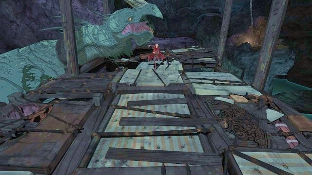 Gdy się zakończy, od razu zostaniemy wrzuceni w wir szalonej ucieczki - Brawurowa ucieczka - Magiczne lustro - Kings Quest - poradnik do gry