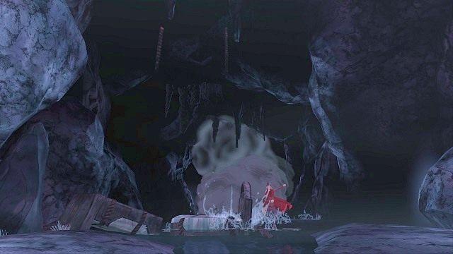 Gdy wyskoczymy z wody, od razu będziemy musieli uciekać znajomą już ścieżką, nad którą wiszą śpiące łóżka - Brawurowa ucieczka - Magiczne lustro - Kings Quest - poradnik do gry