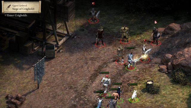 Na początku musisz udać się na Urwiska Crägholdt (Crägholdt Bluffs) (M12) - Oblężenie Crägholdt (Siege of Crägholdt) - zadanie poboczne - Rozpoczęcie przygody - Pillars of Eternity: The White March Part I - poradnik do gry