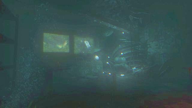 Odczekaj chwilę, a gdy wróg zniknie w tunelu na prawo, wyjdź z pomieszczenia i przejdź do tego zlokalizowanego na wprost (pływa w nim masę śmieci) - 09 - Wrak okrętu CURIE - Opis przejścia - SOMA - poradnik do gry
