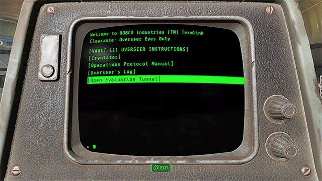 Otwórz drzwi dzięki skorzystaniu z terminalu komputerowego - Powrót z przeszłości | Główny wątek fabularny - Fallout 4 - poradnik do gry
