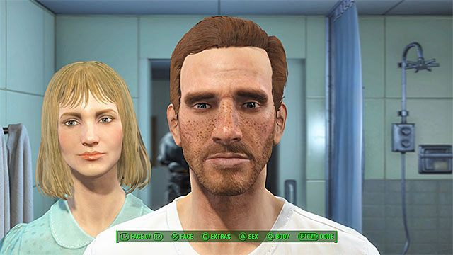 Wybierz płeć i ustal szczegóły wyglądu Twojej przyszłej postaci - Prolog | Główny wątek fabularny Fallout 4 - Fallout 4 - poradnik do gry