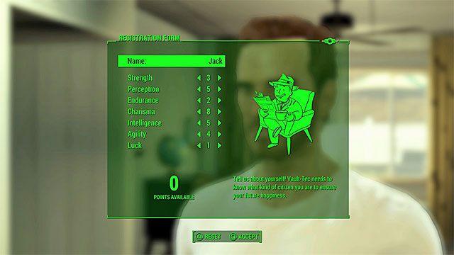 Nadaj imię swojej postaci i rozdziel punkty pomiędzy jej główne statystyki - Prolog | Główny wątek fabularny Fallout 4 - Fallout 4 - poradnik do gry