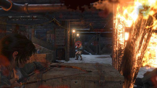Zabijając kilku następnych wrogów cały czas biegnij w górę tej lokacji - Dołącz do Jacoba | Znów sama - Rise of the Tomb Raider - poradnik do gry