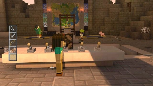 Schody poprowadzą cię do głównego pomieszczenia świątyni, w którym aktywować możesz amulet - Rozdział 6 | Epizod 1 - The Order of the Stone - Minecraft: Story Mode - poradnik do gry