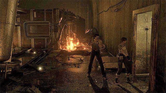 Przejście do kanałów - Początek eksploracji | Ośrodek szkoleniowy Umbrella - Resident Evil Zero HD - poradnik do gry