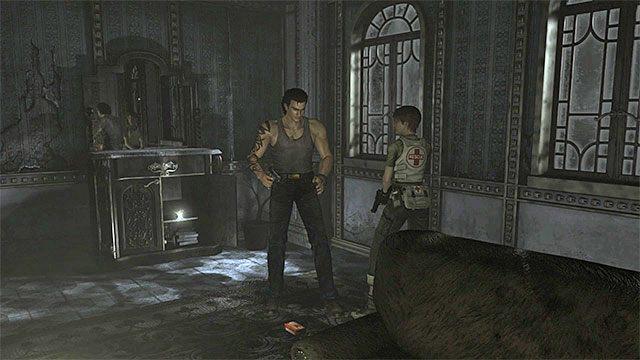 Uchwyt korbki znajdziesz pod lustrem - Początek eksploracji | Ośrodek szkoleniowy Umbrella - Resident Evil Zero HD - poradnik do gry