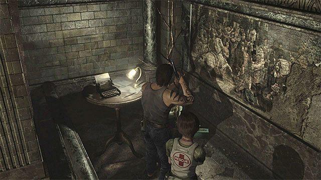 W pomieszczeniu konferencyjnym jest kolejna maszyna do pisania - Początek eksploracji | Ośrodek szkoleniowy Umbrella - Resident Evil Zero HD - poradnik do gry