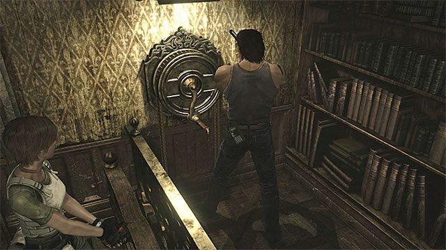 Użyj kołowrotka po tym jak Rebecca ustawi się na windzie - Początek eksploracji | Ośrodek szkoleniowy Umbrella - Resident Evil Zero HD - poradnik do gry