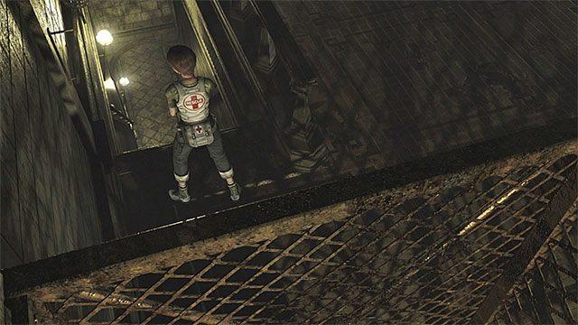 Odszukaj w dużej sali schody prowadzące na niższy poziom 2F - Początek eksploracji | Ośrodek szkoleniowy Umbrella - Resident Evil Zero HD - poradnik do gry