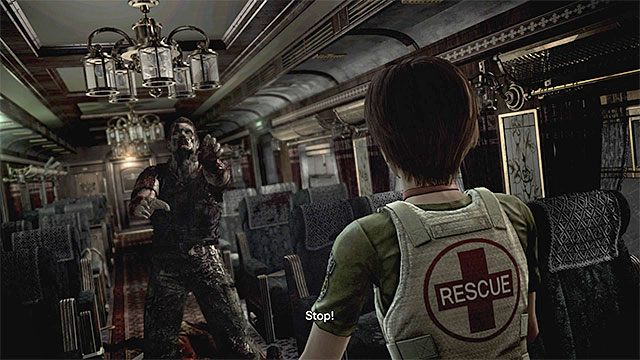 Jeśli grasz Rebeccą to załączy się filmik ze spotkania z nieumarłym Edwardem - Powstrzymanie pociągu przed wykolejeniem | Pociąg Ecliptic Express - Resident Evil Zero HD - poradnik do gry