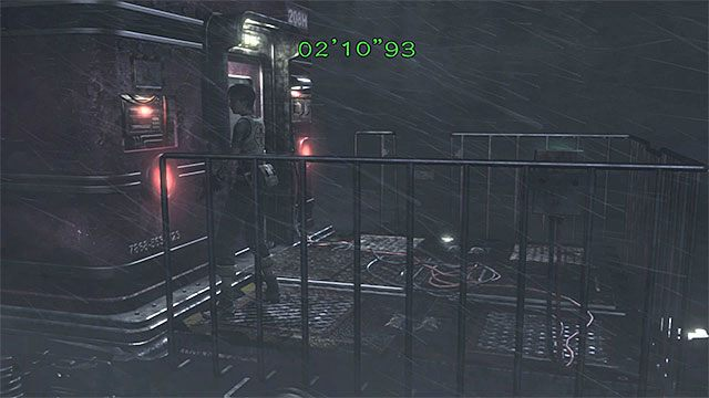 Mechanizm sterowania hamulcami jest na tyłach pociągu - Powstrzymanie pociągu przed wykolejeniem | Pociąg Ecliptic Express - Resident Evil Zero HD - poradnik do gry